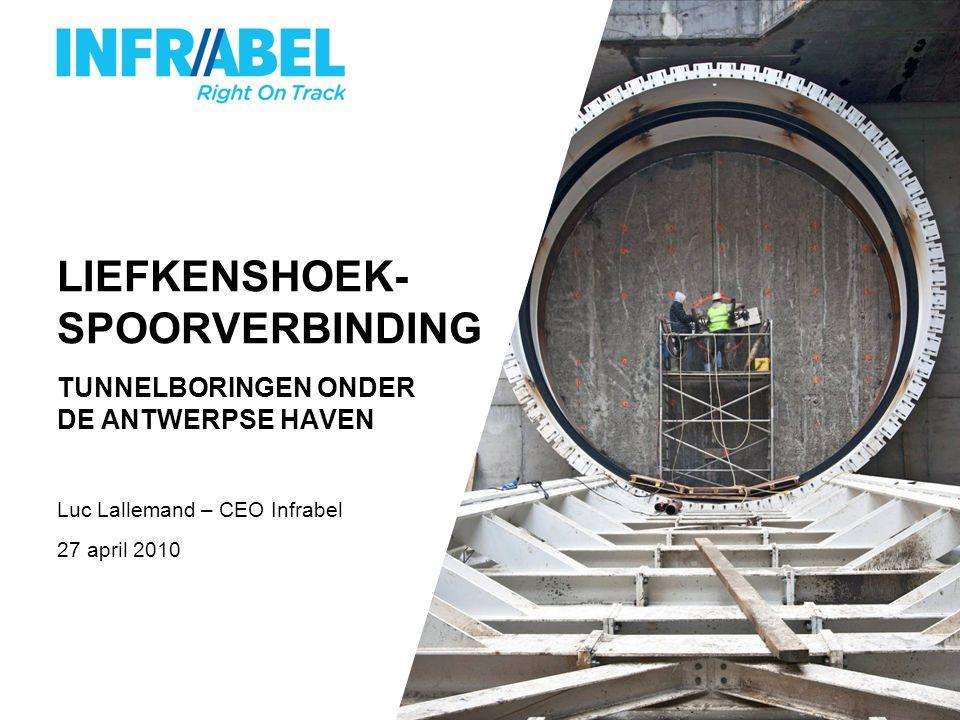 LIEFKENSHOEK- SPOORVERBINDING TUNNELBORINGEN ONDER DE ANTWERPSE HAVEN Luc Lallemand – CEO Infrabel 27 april 2010