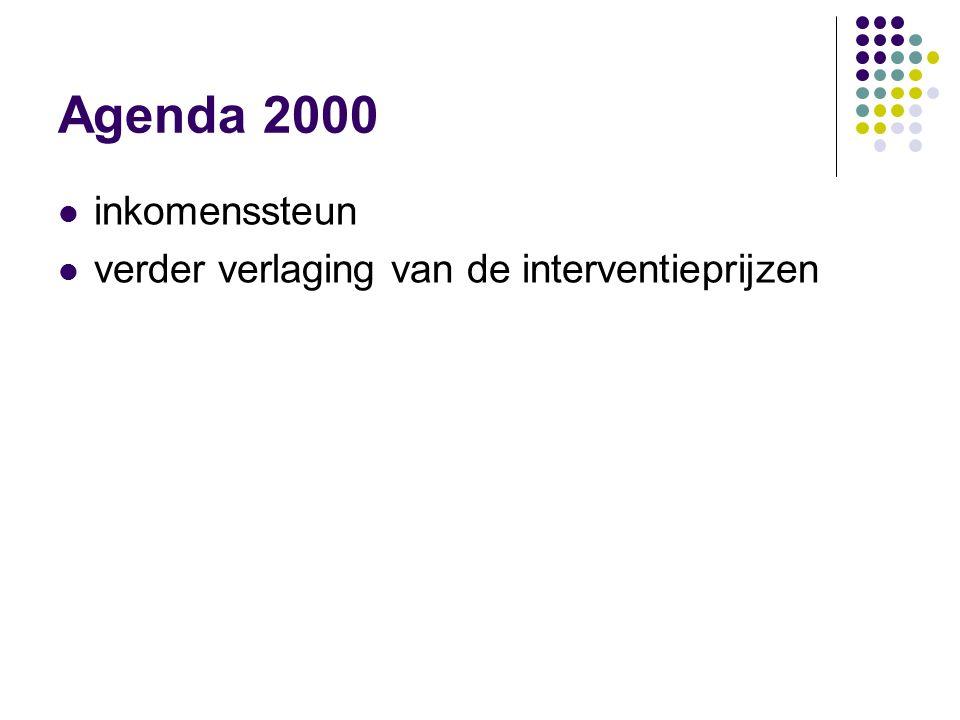 Agenda 2000 inkomenssteun verder verlaging van de interventieprijzen