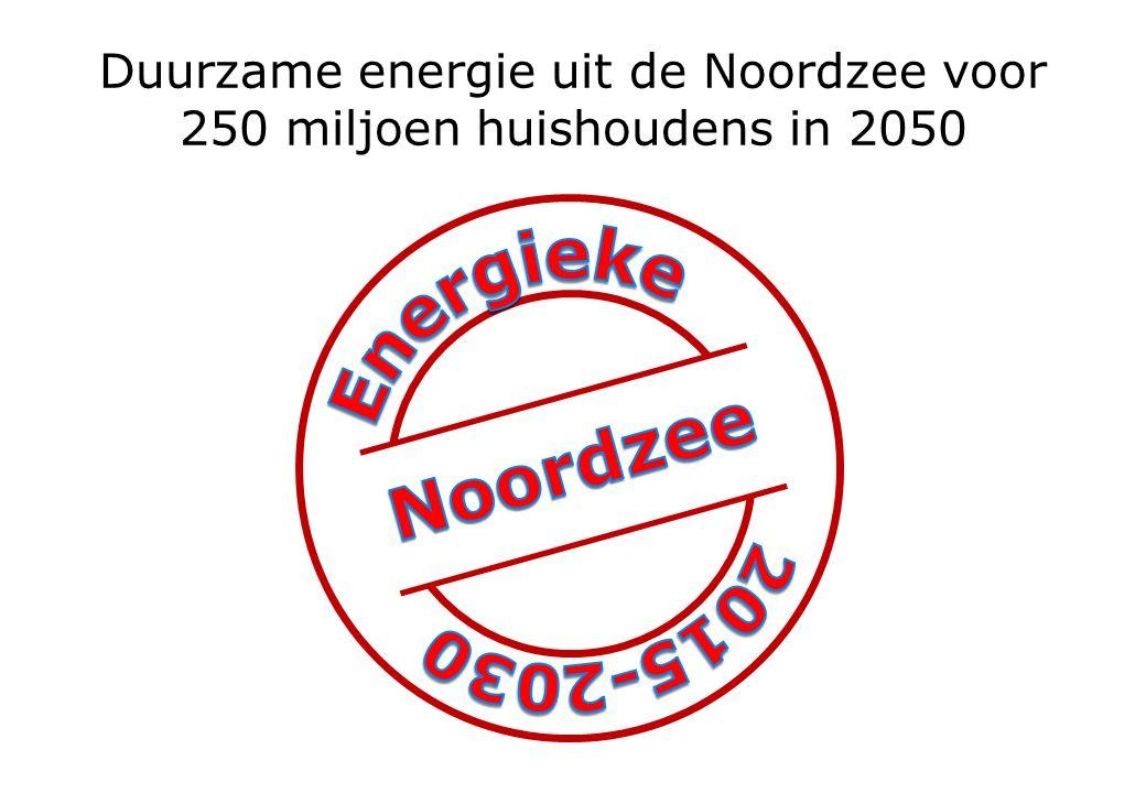 Duurzame energie uit de Noordzee voor 250 miljoen huishoudens in 2050