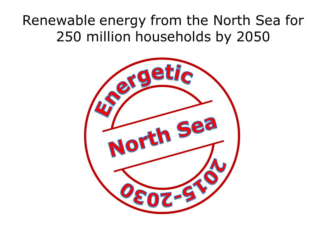 Renewable energy from the North Sea for 250 million households by 2050
