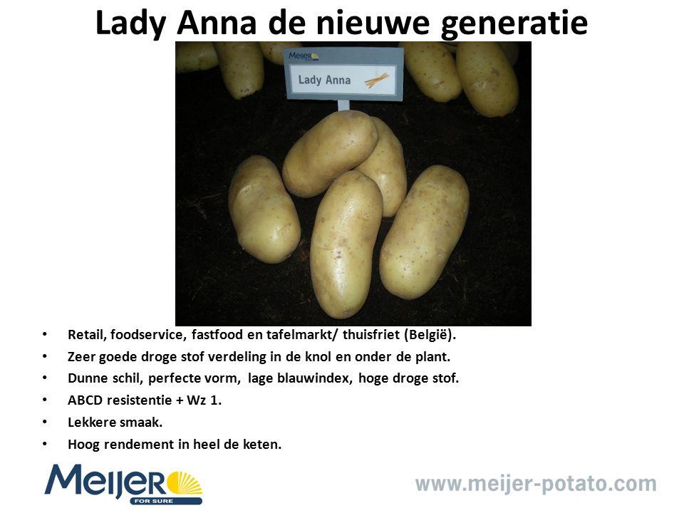 Lady Anna de nieuwe generatie Retail, foodservice, fastfood en tafelmarkt/ thuisfriet (België).