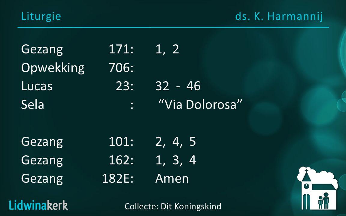 Via Dolorosa - Sela Langs de Via Dolorosa, heel die lange lijdensweg, ging de Christus, onze Koning als een lam.
