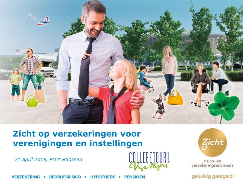 Zicht op verzekeringen voor verenigingen en instellingen 21 april 2016, Mart Hanssen