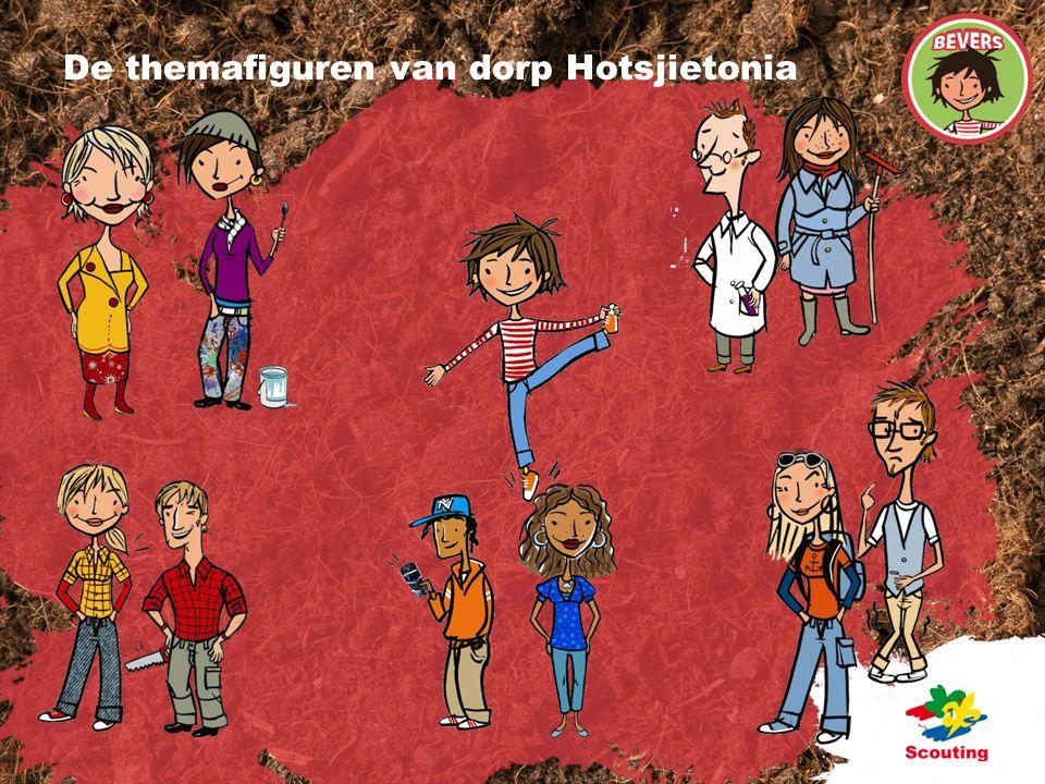 De themafiguren van dorp Hotsjietonia