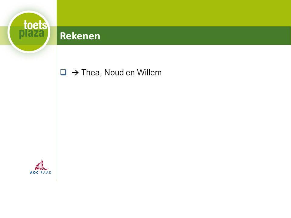 Rekenen  Thea, Noud en Willem