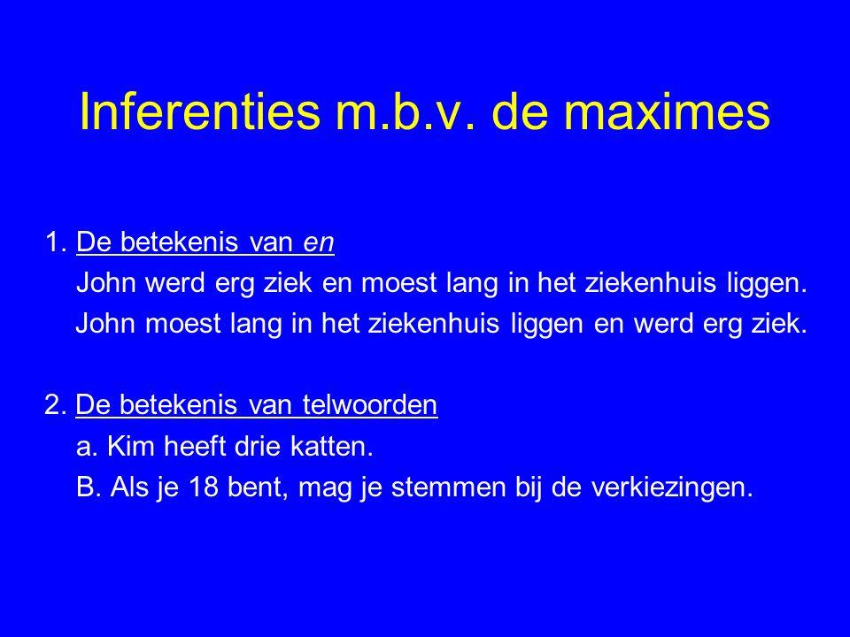Inferenties m.b.v.