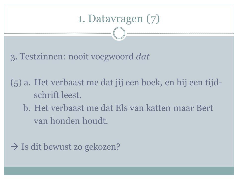 1. Datavragen (7) 3.