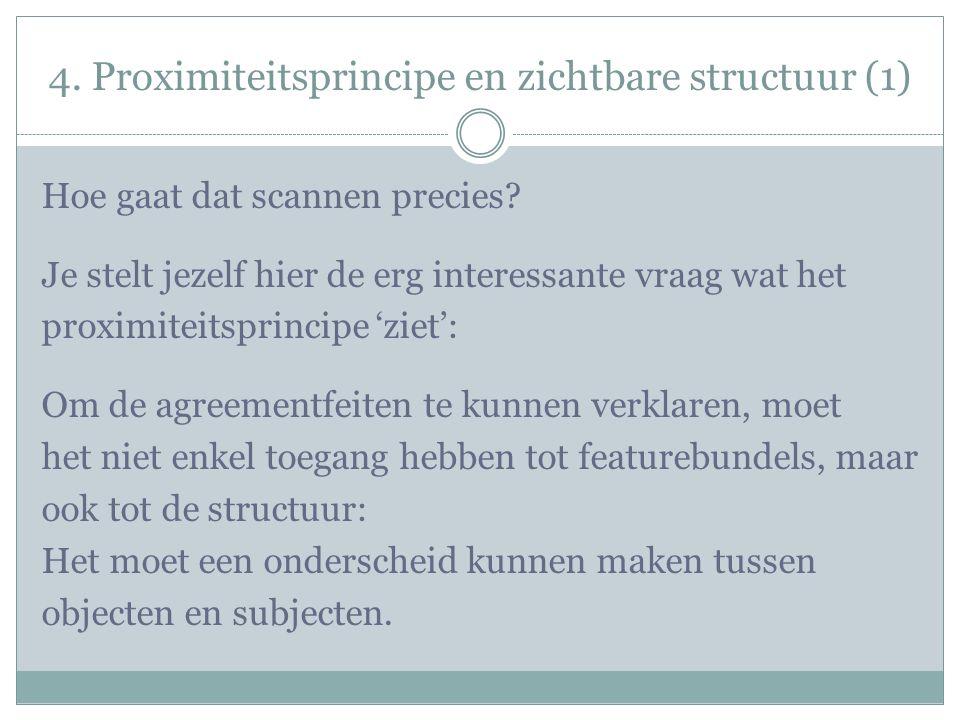 4. Proximiteitsprincipe en zichtbare structuur (1) Hoe gaat dat scannen precies.