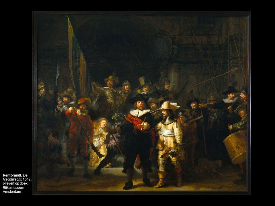 Rembrandt, De Nachtwacht, 1642, olieverf op doek, Rijksmuseum Amsterdam