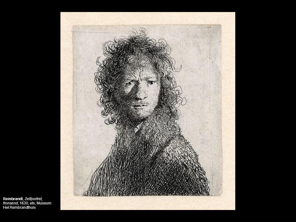 Rembrandt, Zelfportret, fronsend, 1630, ets, Museum Het Rembrandthuis