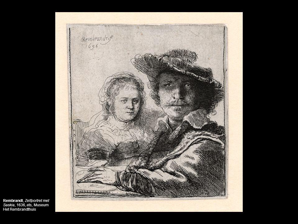 Rembrandt, Zelfportret met Saskia, 1636, ets, Museum Het Rembrandthuis