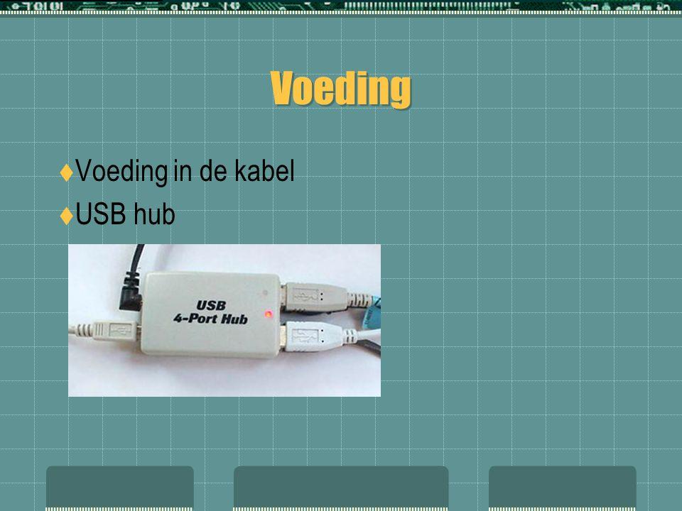 Voeding  Voeding in de kabel  USB hub