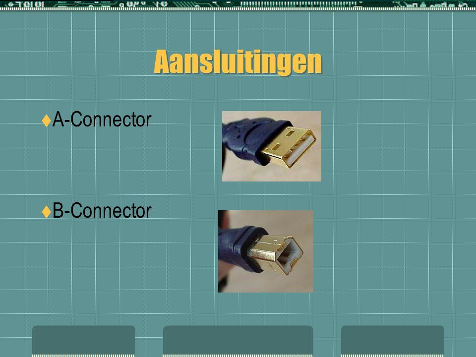 Aansluitingen  A-Connector  B-Connector