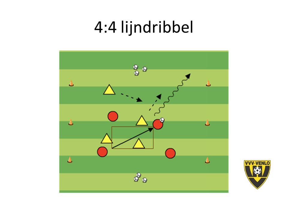4:4 lijndribbel