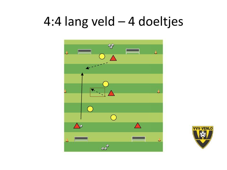 4:4 lang veld – 4 doeltjes