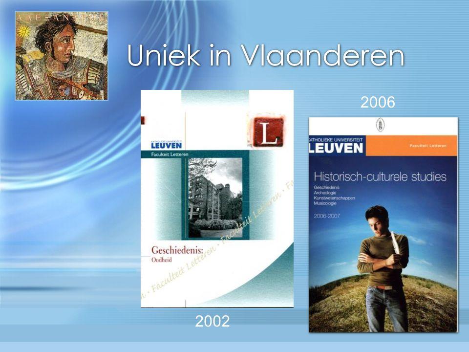 Uniek in Vlaanderen 2002 2006