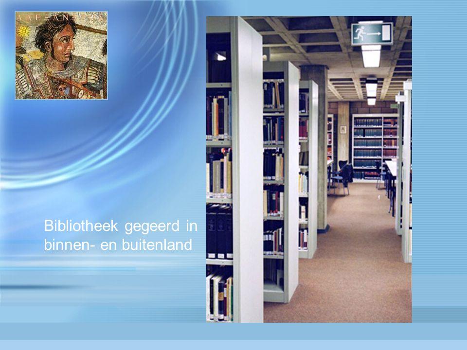 Bibliotheek gegeerd in binnen- en buitenland
