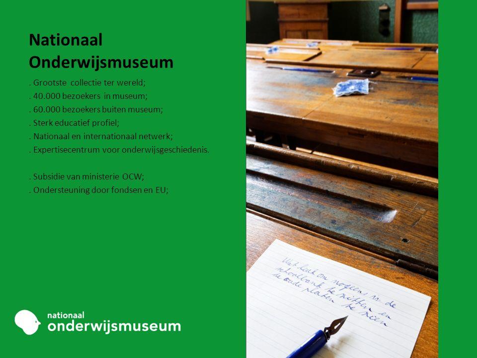 Nationaal Onderwijsmuseum. Grootste collectie ter wereld;.