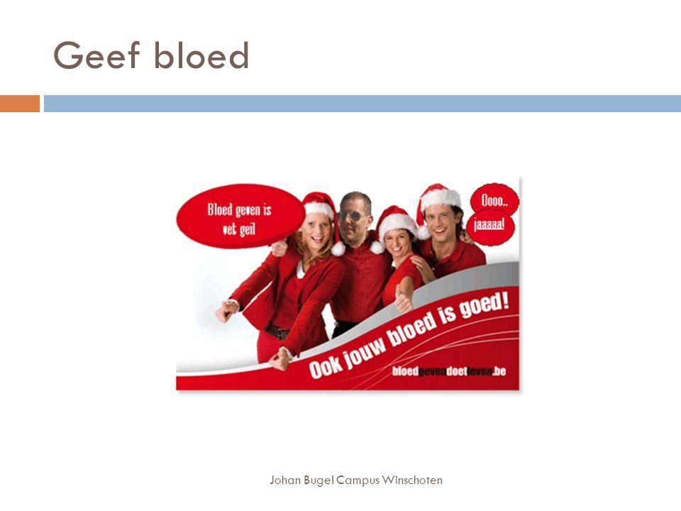 Geef bloed Johan Bugel Campus Winschoten