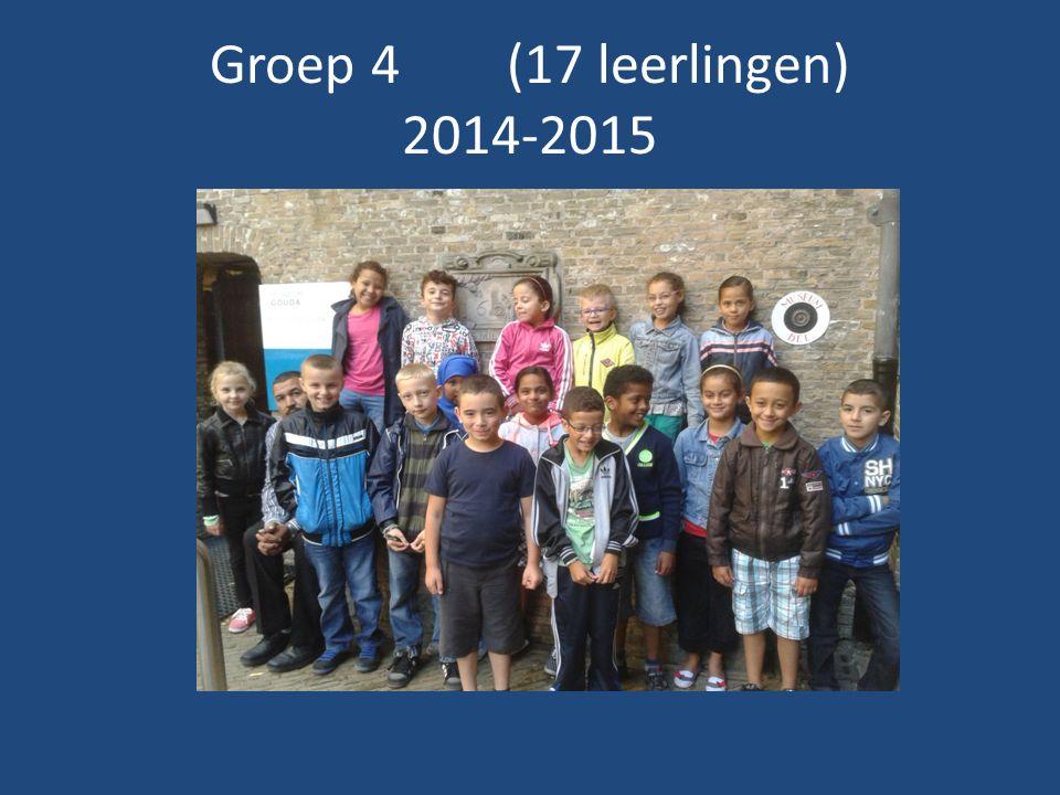 Groep 4 (17 leerlingen) 2014-2015