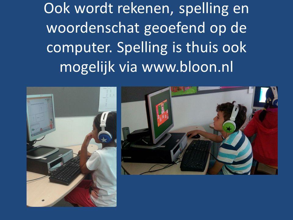 Ook wordt rekenen, spelling en woordenschat geoefend op de computer.