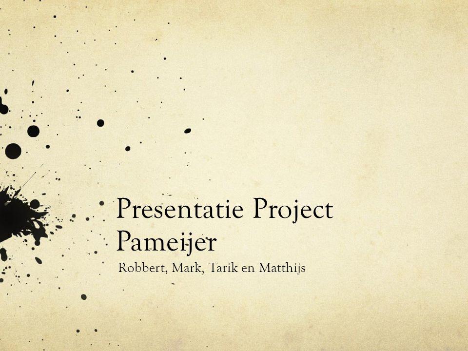 Presentatie Project Pameijer Robbert, Mark, Tarik en Matthijs