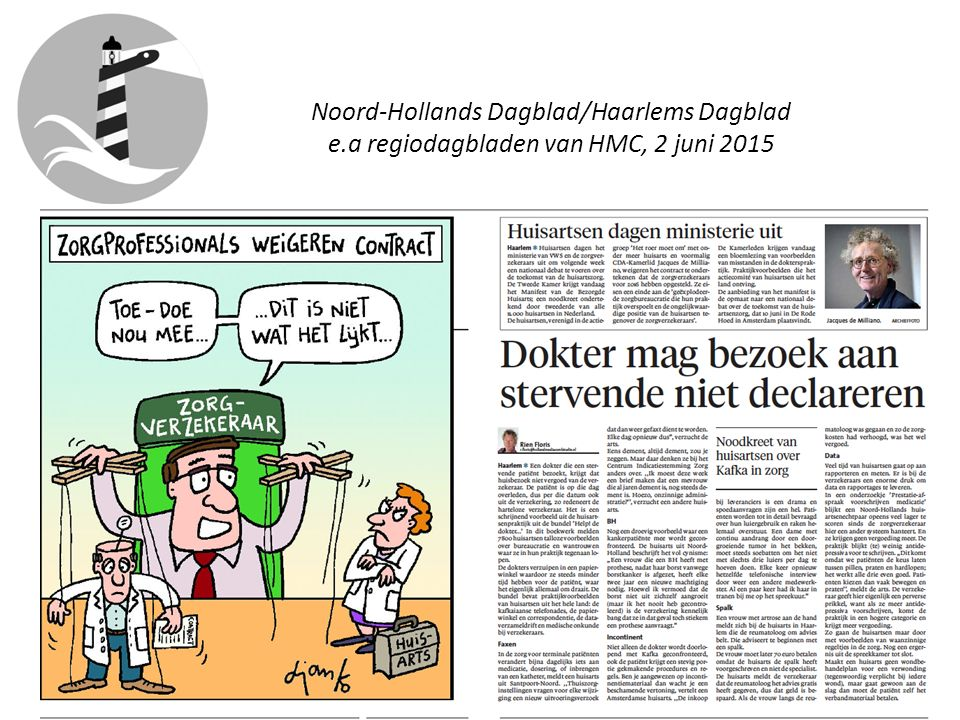 Noord-Hollands Dagblad/Haarlems Dagblad e.a regiodagbladen van HMC, 2 juni 2015