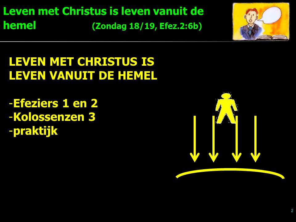 2 LEVEN MET CHRISTUS IS LEVEN VANUIT DE HEMEL -Efeziers 1 en 2 -Kolossenzen 3 -praktijk