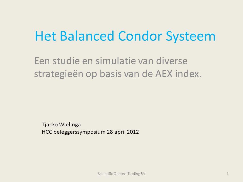 Het Balanced Condor Systeem Een studie en simulatie van diverse strategieën op basis van de AEX index. Scientific Options Trading BV1 Tjakko Wielinga