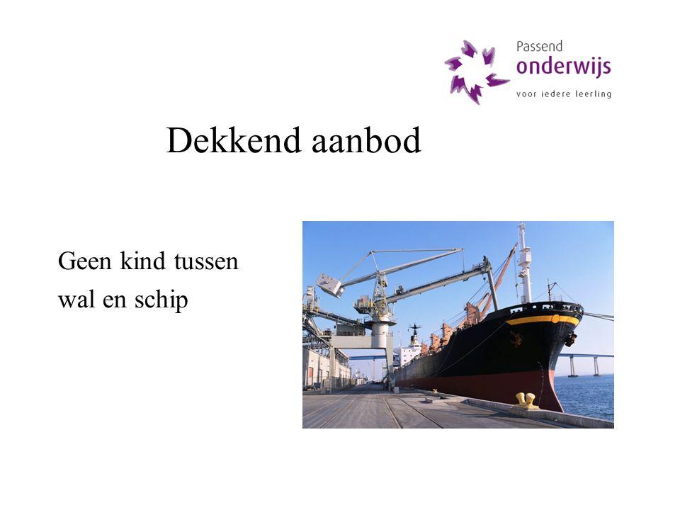 Dekkend aanbod Geen kind tussen wal en schip