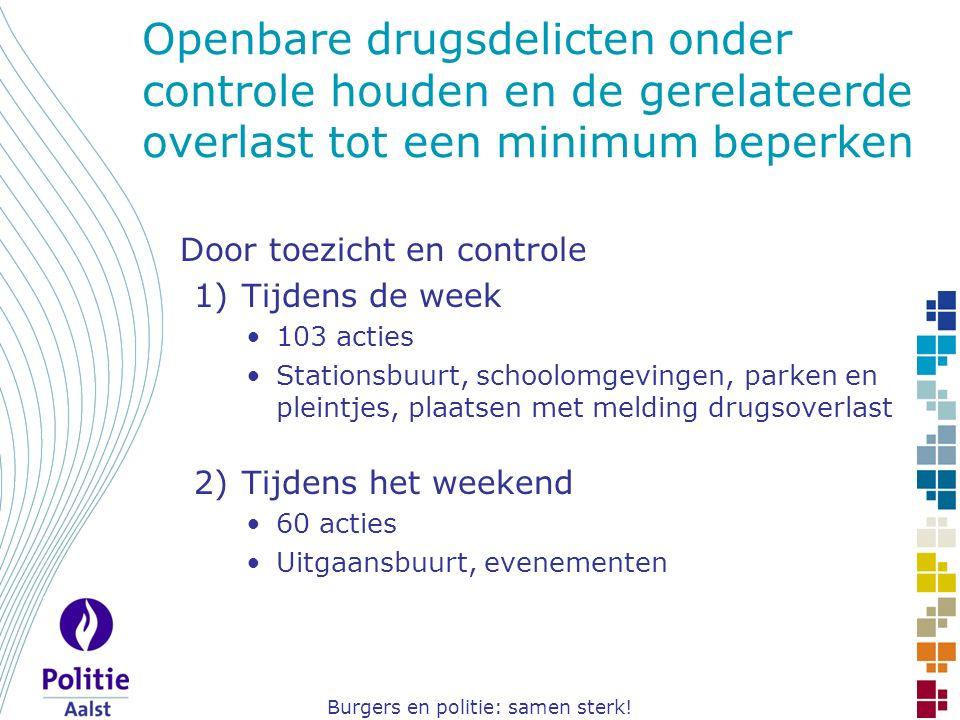 Burgers en politie: samen sterk! Openbare drugsdelicten onder controle houden en de gerelateerde overlast tot een minimum beperken Door toezicht en co