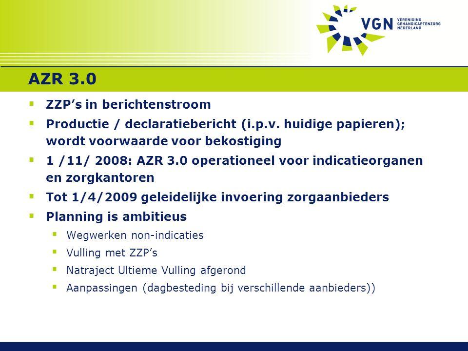 AZR 3.0  ZZP's in berichtenstroom  Productie / declaratiebericht (i.p.v.