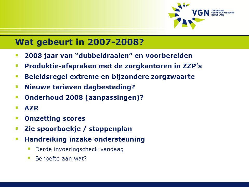 Wat gebeurt in 2007-2008.
