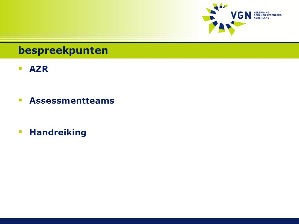bespreekpunten  AZR  Assessmentteams  Handreiking