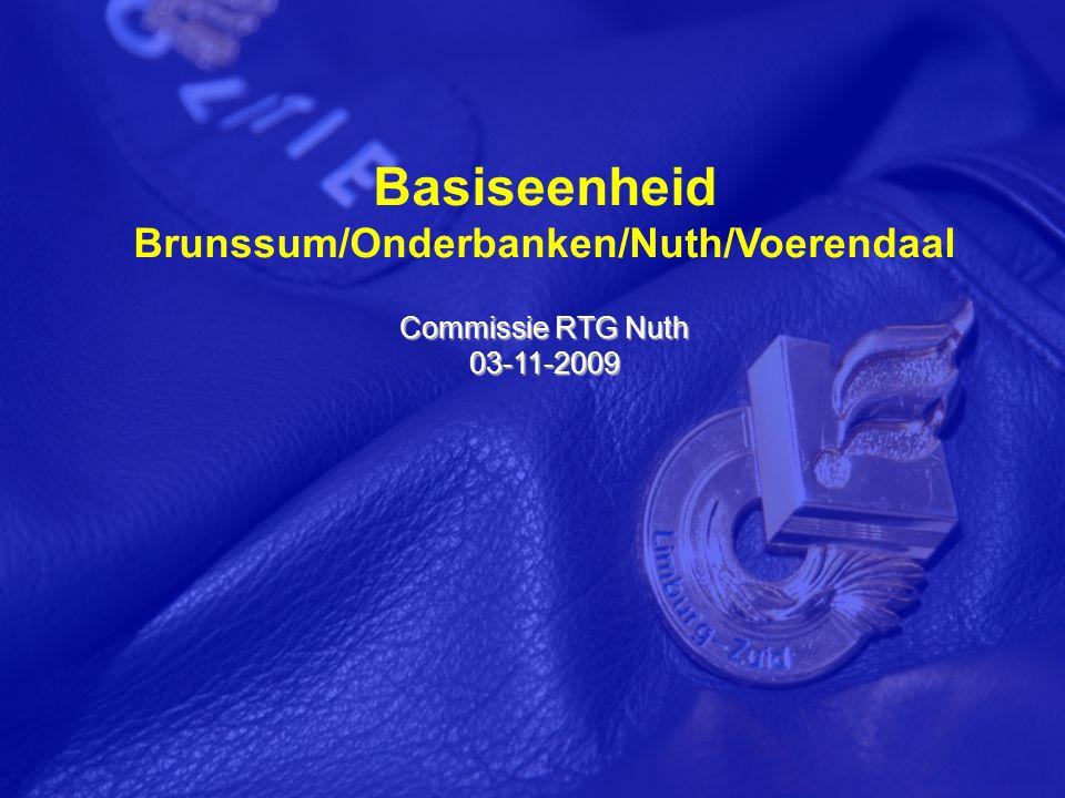 Basiseenheid Brunssum/Onderbanken/Nuth/Voerendaal Commissie RTG Nuth 03-11-2009