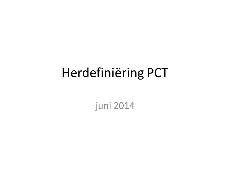 Herdefiniëring PCT juni 2014