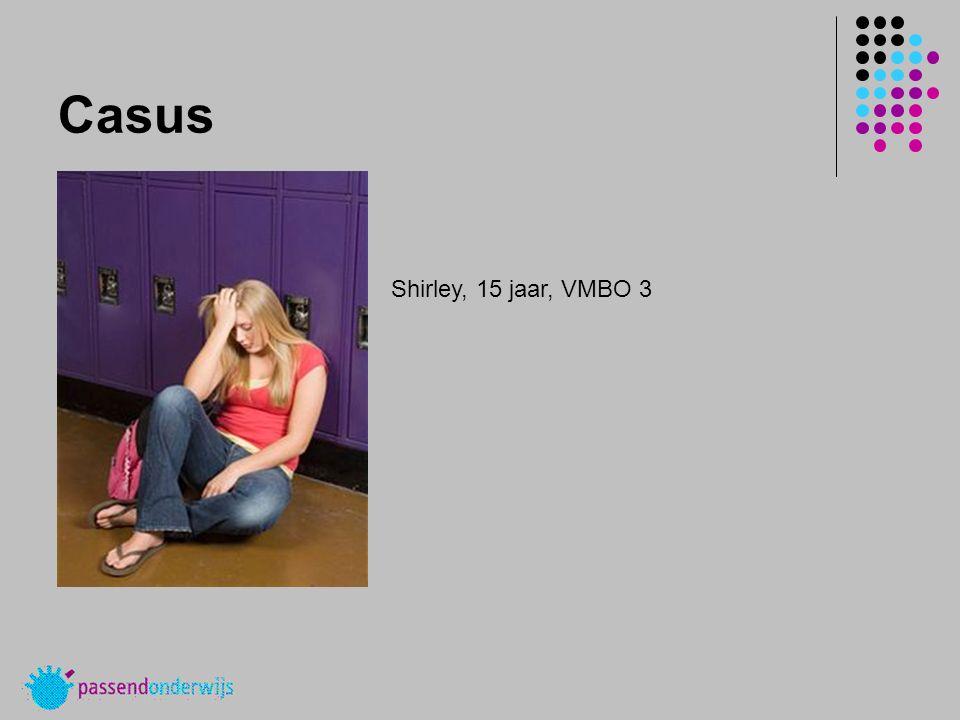 Casus Shirley, 15 jaar, VMBO 3