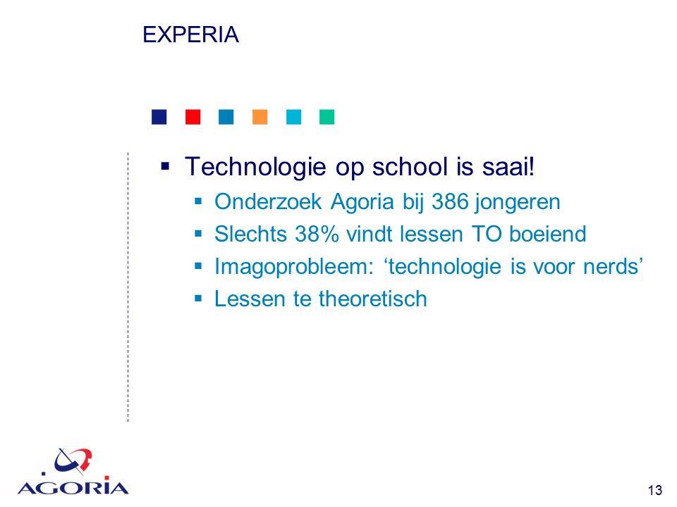            13 EXPERIA  Technologie op school is saai.