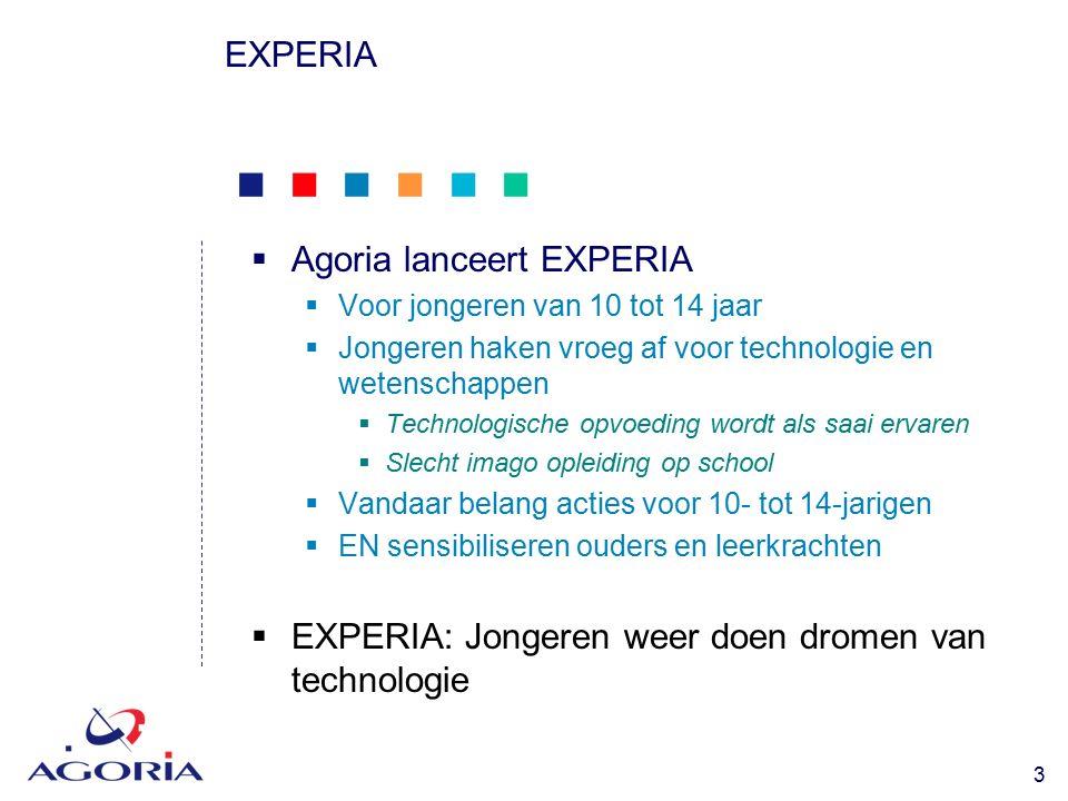            14 EXPERIA  Didactische pakketten voor scholen  'Sport onder de loep'  Rond sport, technologie en wetenschappen  Voor scholieren van 8 tot 12 jaar  Met materiaalbox voor tests  Lesmateriaal voor 4 dagen of 8 halve dagen