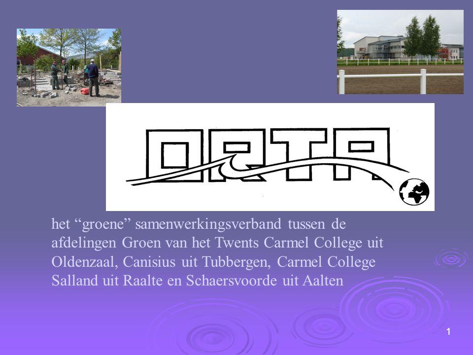 """het """"groene"""" samenwerkingsverband tussen de afdelingen Groen van het Twents Carmel College uit Oldenzaal, Canisius uit Tubbergen, Carmel College Salla"""