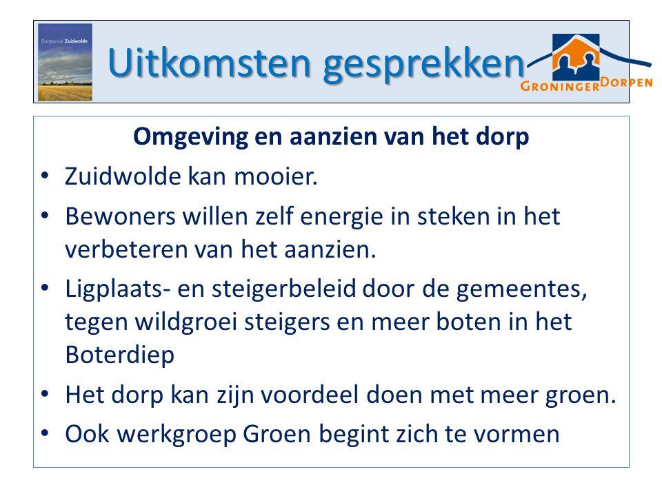 Uitkomsten gesprekken Omgeving en aanzien van het dorp Zuidwolde kan mooier.
