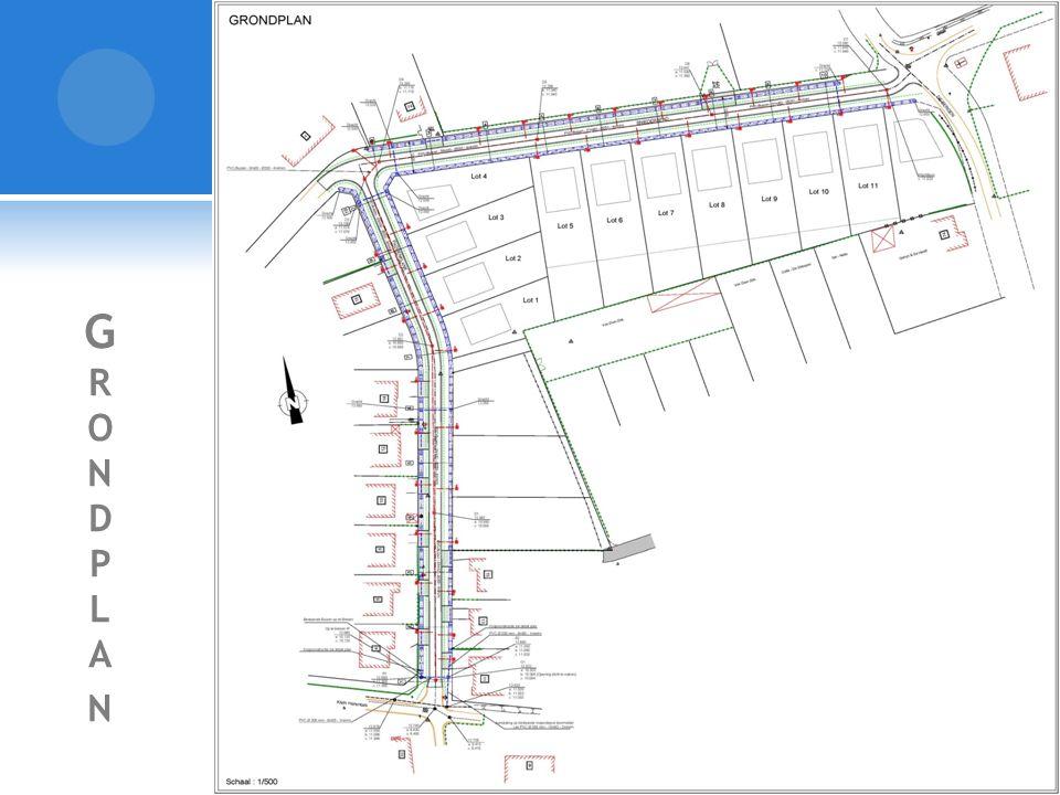 T YPE D WARSPROFIEL  Rijweg van 4m00 in asfaltverharding;  Kantstrook van 30cm;  Onverharde berm voor de nutsleidingen ong.
