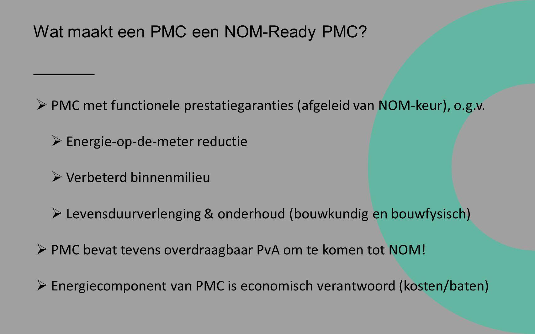 Wat maakt een PMC een NOM-Ready PMC.