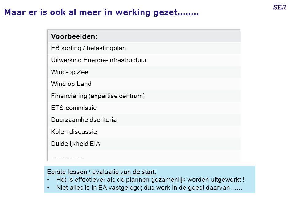 Maar er is ook al meer in werking gezet……..