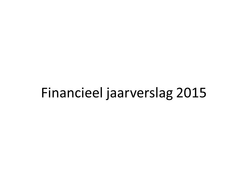 Financieel jaarverslag 2015