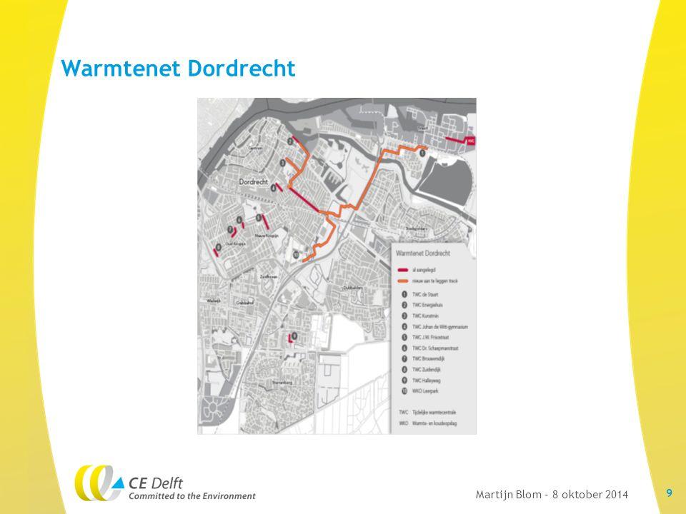 Warmtenet Dordrecht 9 Martijn Blom – 8 oktober 2014