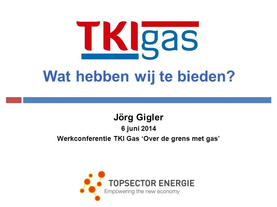 Wat hebben wij te bieden Jörg Gigler 6 juni 2014 Werkconferentie TKI Gas 'Over de grens met gas'
