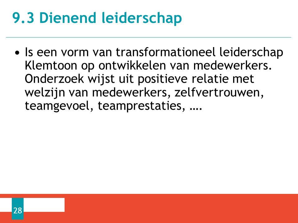 Is een vorm van transformationeel leiderschap Klemtoon op ontwikkelen van medewerkers.