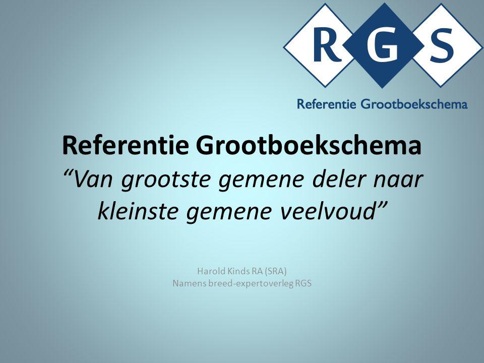 Referentie Grootboekschema Van grootste gemene deler naar kleinste gemene veelvoud Harold Kinds RA (SRA) Namens breed-expertoverleg RGS