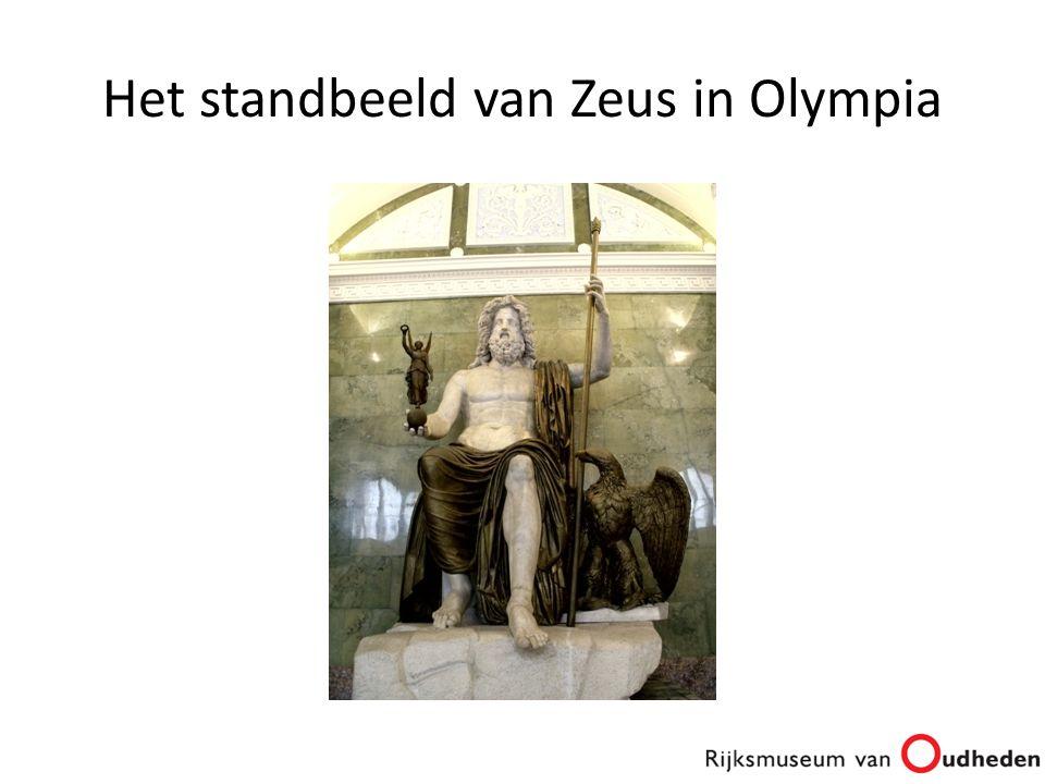 Het standbeeld van Zeus in Olympia
